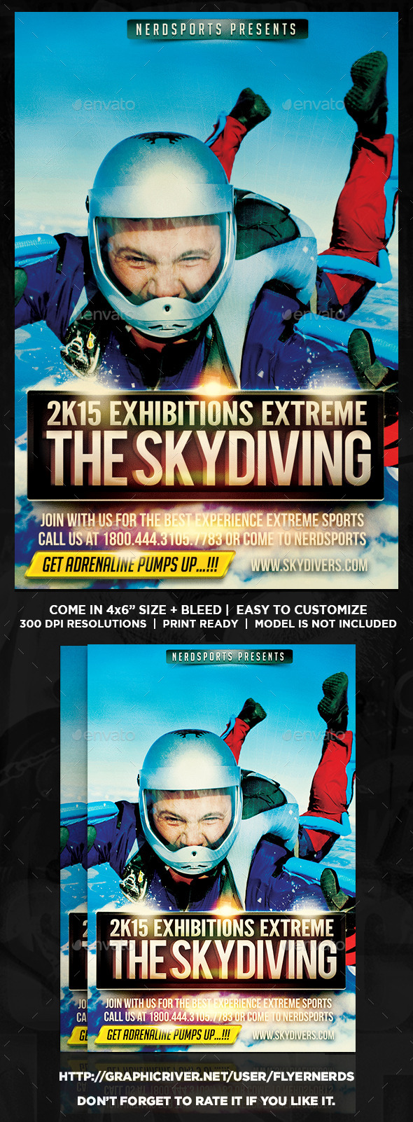 Skydiving Sports Flyer  - Sports Events