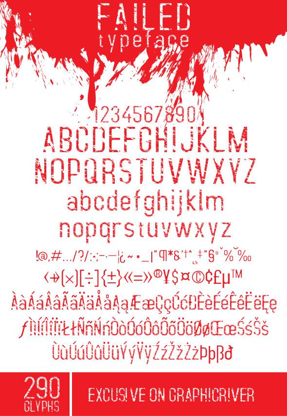 Failed Font - Grunge Decorative