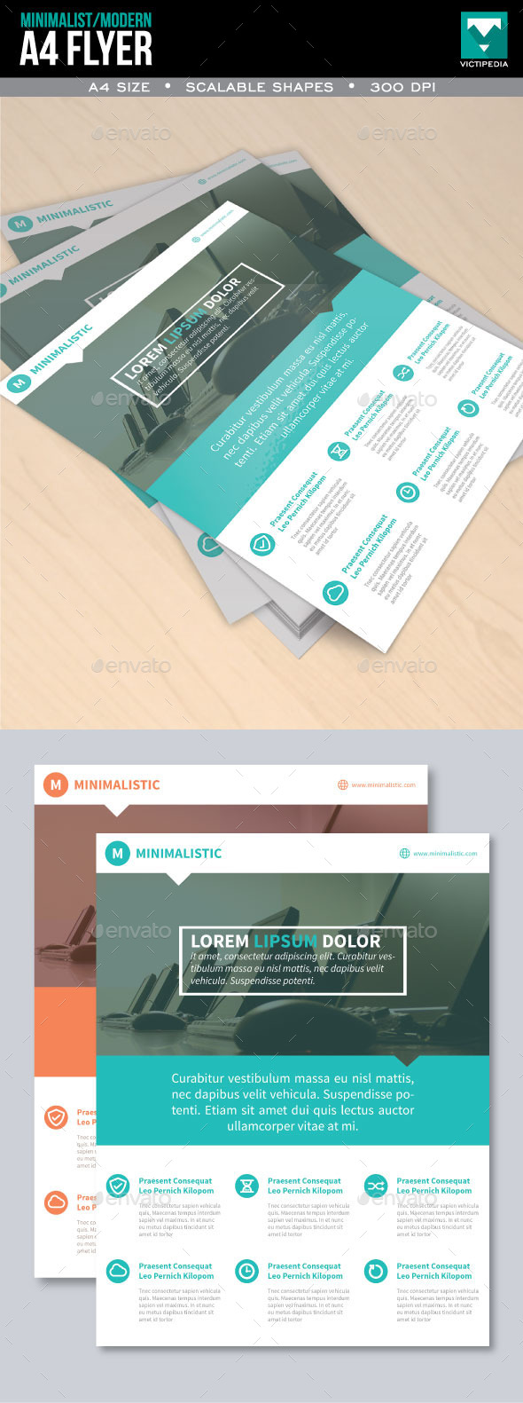 Minimalist and Modern Flyer - Flyers Print Templates