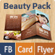 Beauty & Spa Pack: Tri-Fold Brochure, Business Cards, Facebook Cover - GraphicRiver Item for Sale