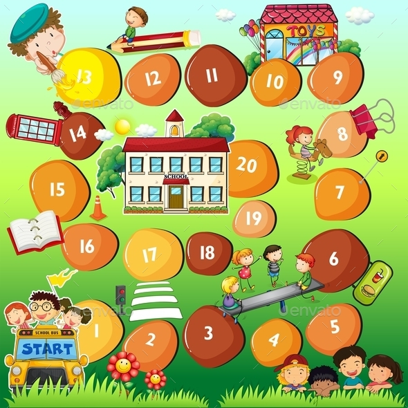 Board Game Theme for Children - People Characters