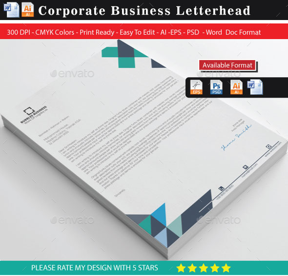 Cover Property Letterhead - Stationery Print Templates