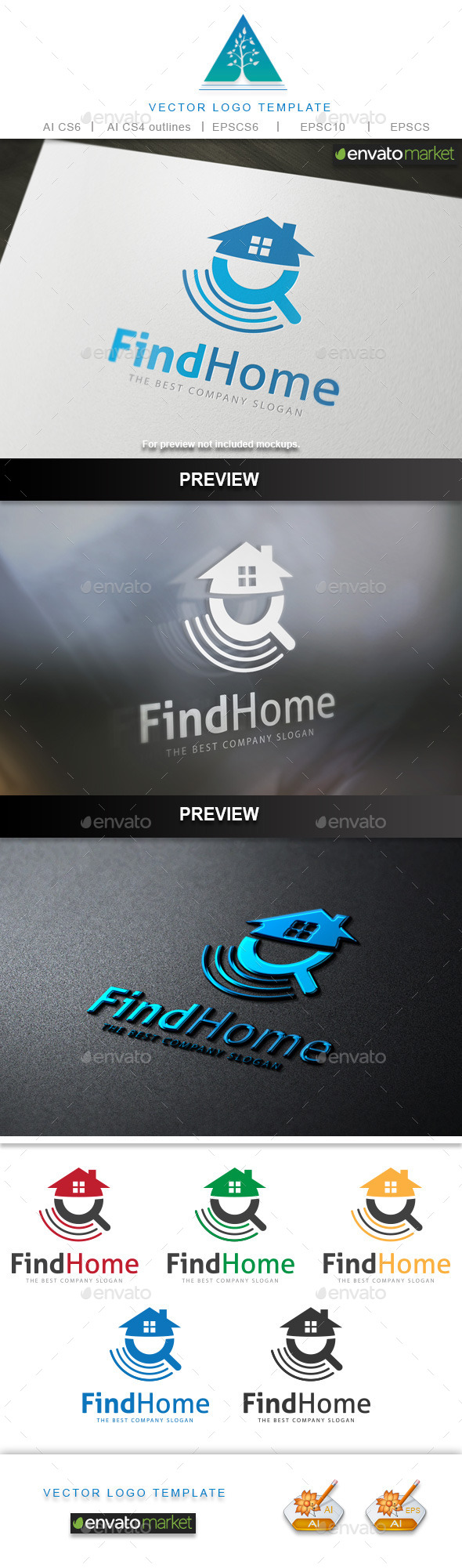 Find Home Logo - Buildings Logo Templates