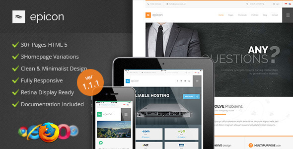 Epicon - Clean Multipurpose HTML Template - Corporate Site Templates