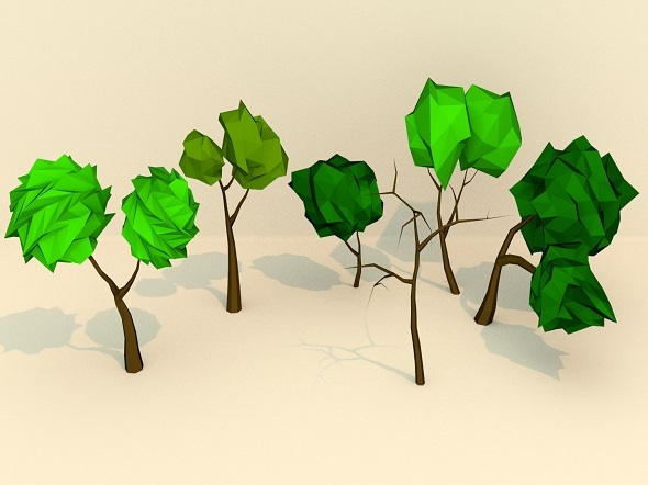 Low Poly Trees Pack - 3DOcean Item for Sale
