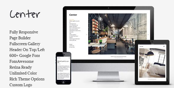 Center - Portfolio / Gallery Responsive WP Theme