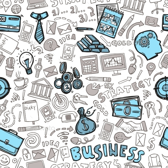 Business Seamless Pattern - Backgrounds Business