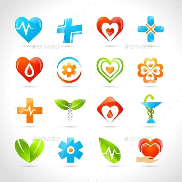 Medical Logo Icons - Health/Medicine Conceptual