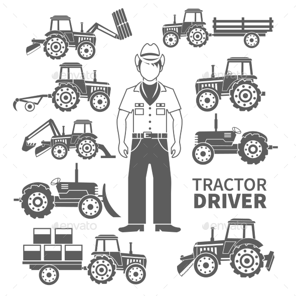 Tractor Driver Icons - Miscellaneous Vectors