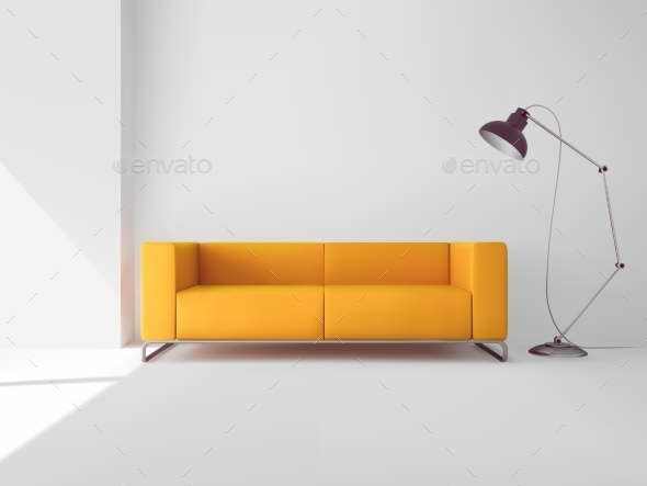 Living Room with Sofa - Miscellaneous Vectors