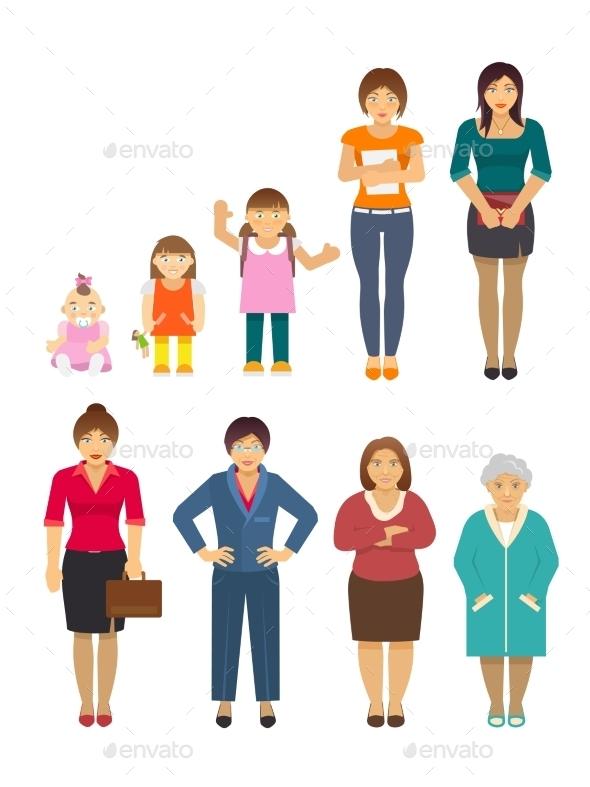 Generation Women Flat - People Characters