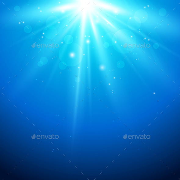 Blue Background with Sunlight - Backgrounds Decorative