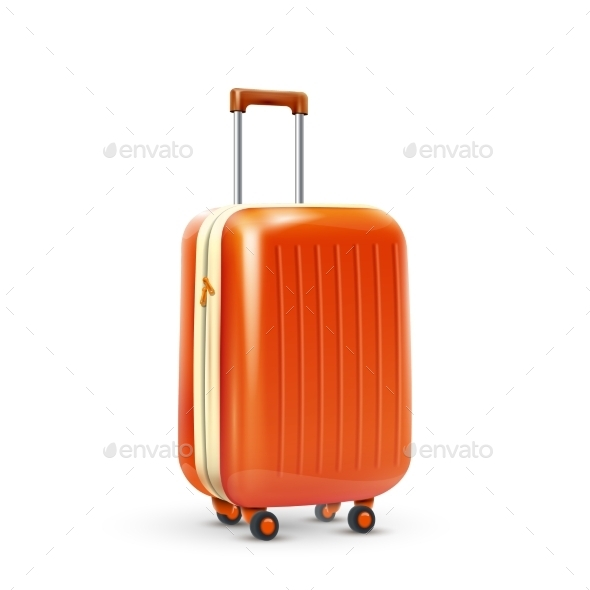 Travel Suitcase Realistic - Travel Conceptual