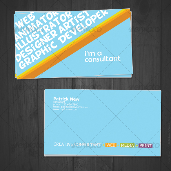 Creative Consultant - Creative Business Cards