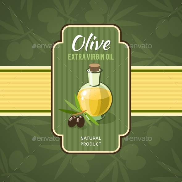 Olive Oil Badge - Food Objects