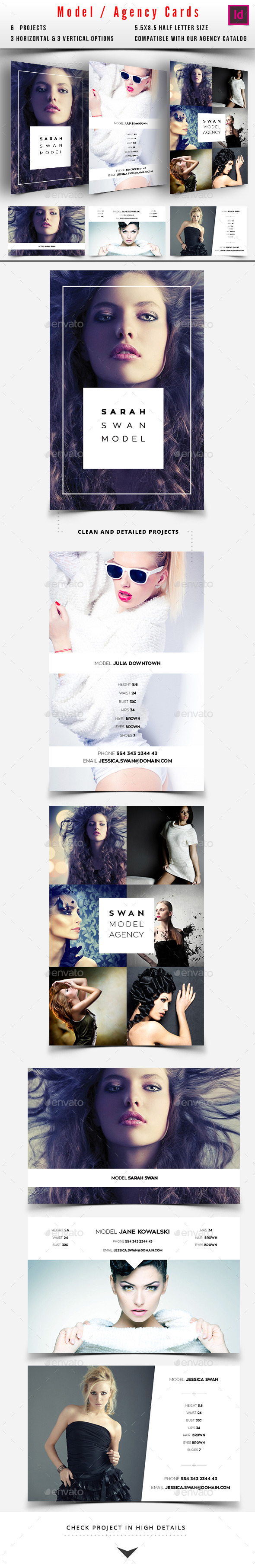 Model / Agency Comp Card - Miscellaneous Print Templates