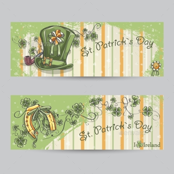 Set of Horizontal Banners for St. Patrick's Day - Miscellaneous Seasons/Holidays