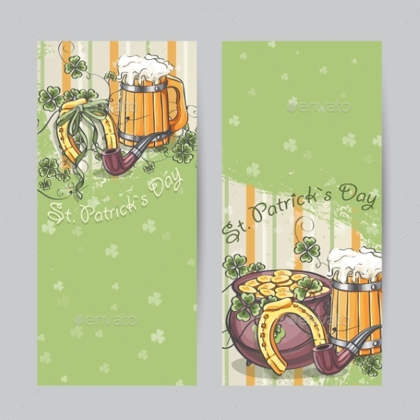 Set of Vertical Banners for St. Patrick's Day - Miscellaneous Seasons/Holidays