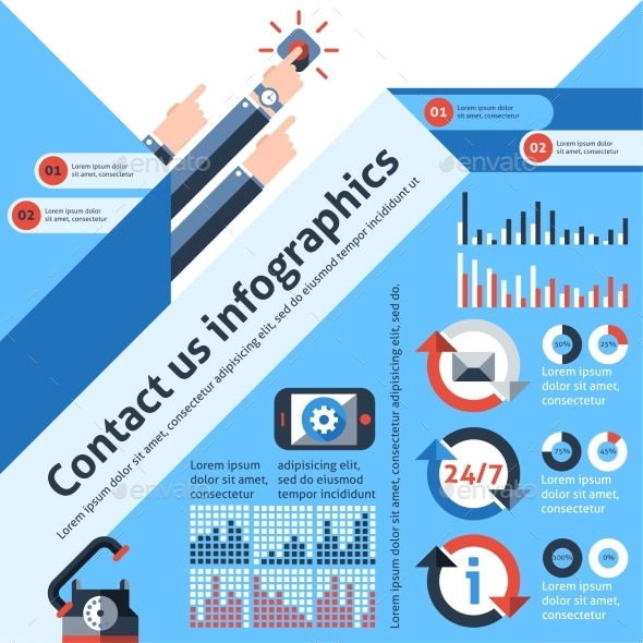 Contact us infographics - Infographics