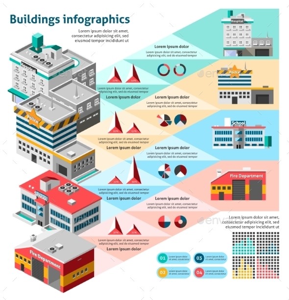 Buildings Infographics Set - Infographics