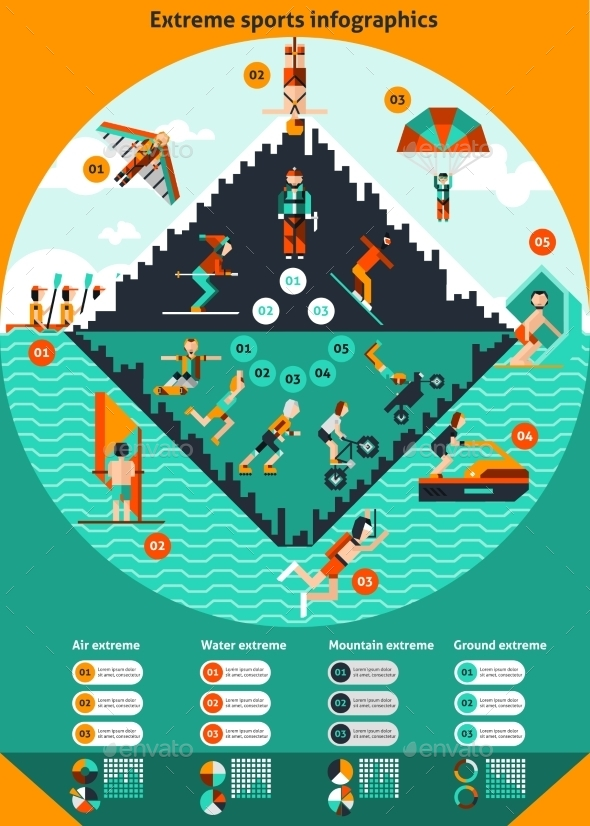 Extreme Sports Infographics - Infographics