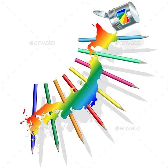 Japan Paint Concept - Miscellaneous Vectors