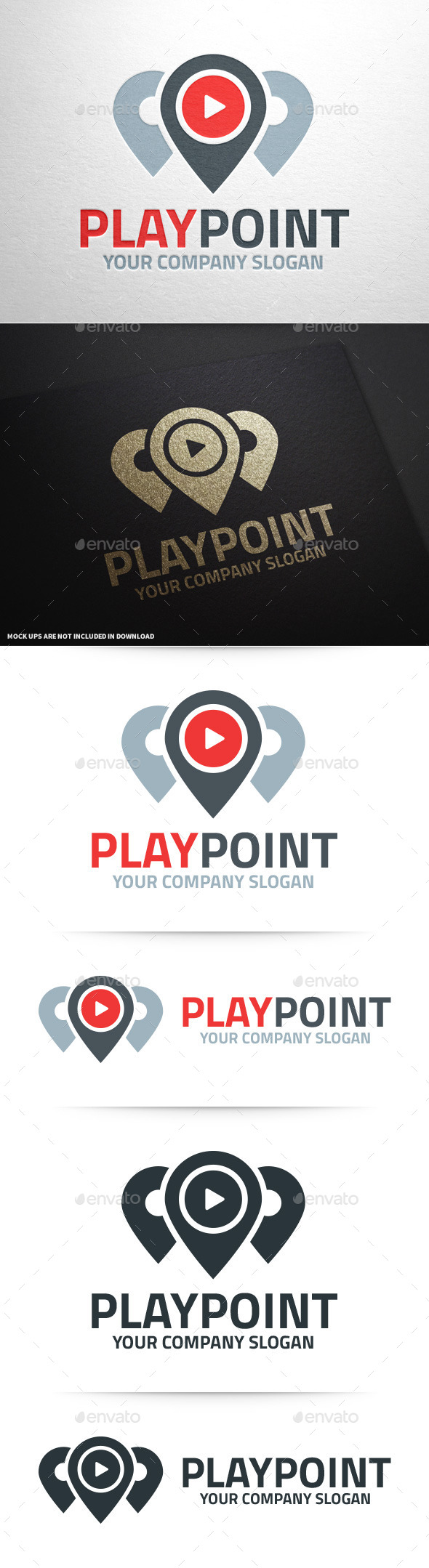 Play Point Logo Template - Symbols Logo Templates