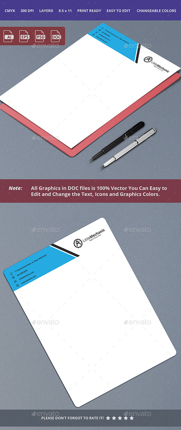 Letterhead Design 13 - Stationery Print Templates