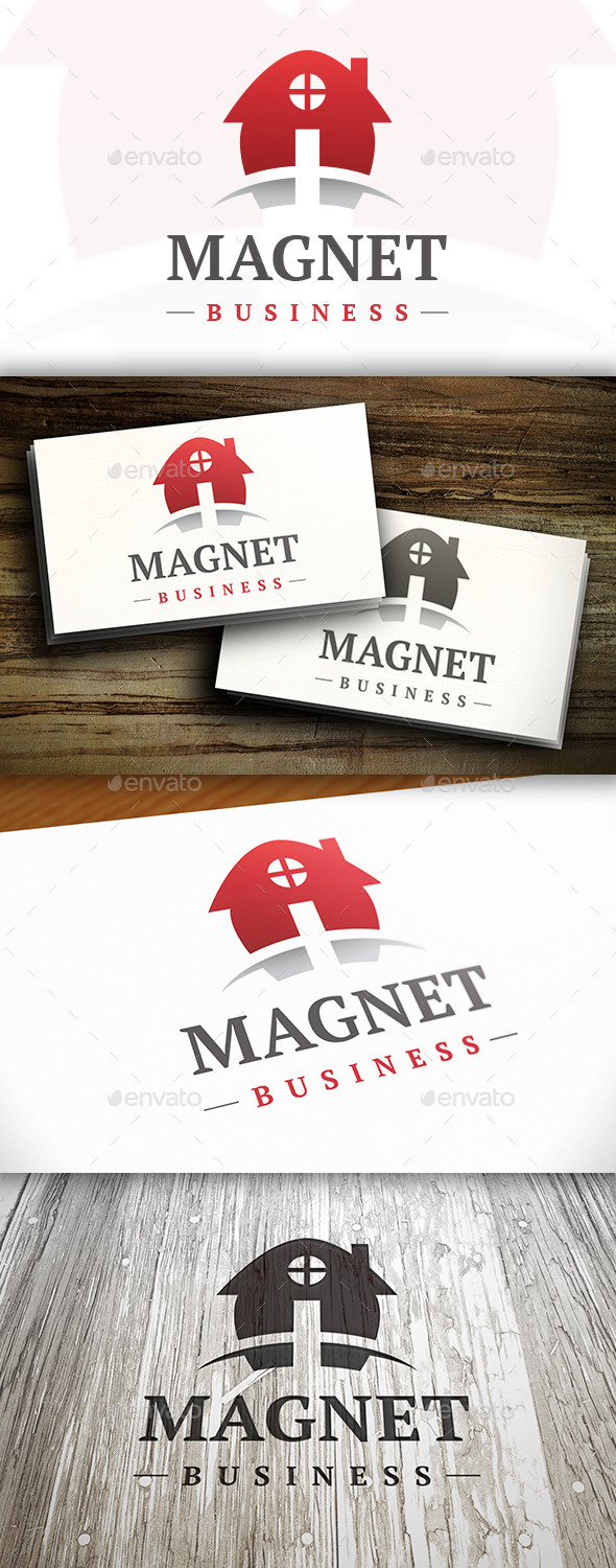 Magnet House Logo - Buildings Logo Templates