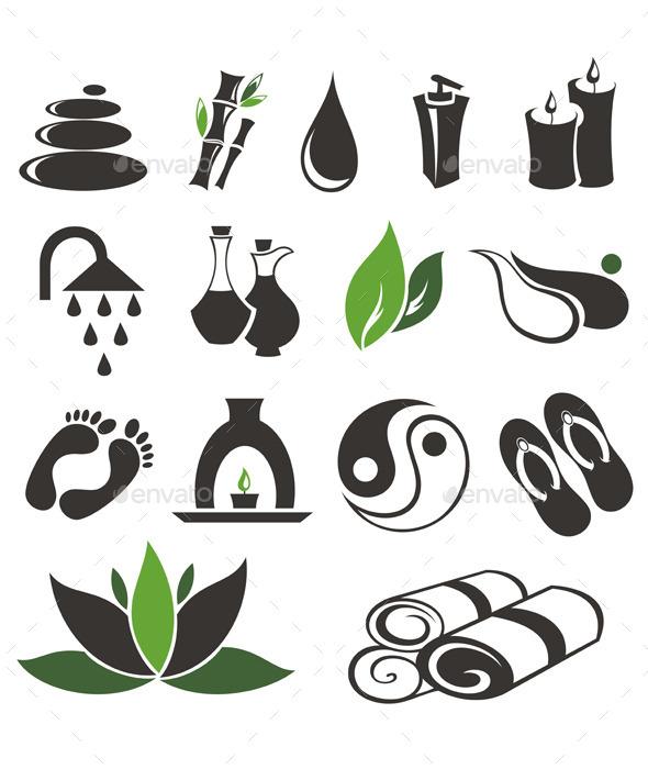 Spa Icons Set - Health/Medicine Conceptual