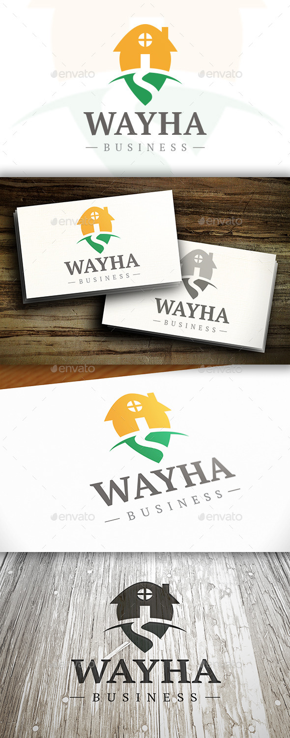 Way Home Logo - Buildings Logo Templates