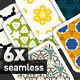 6 Colourful, tileable Pattern Pack IV - GraphicRiver Item for Sale