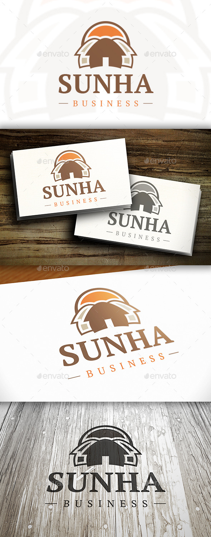 Sunny House Logo - Buildings Logo Templates