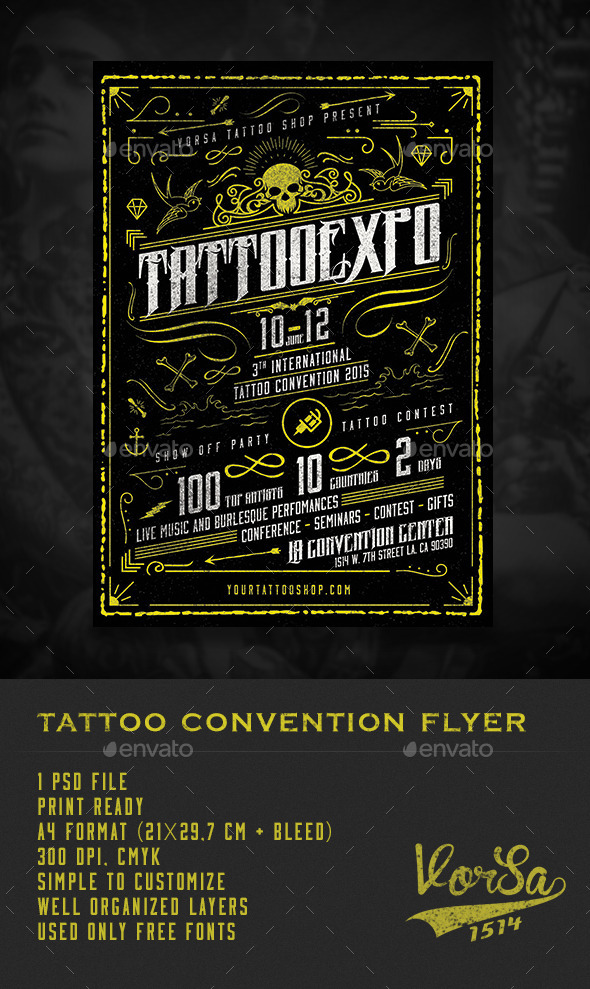 Tattoo Convention Flyer  - Miscellaneous Events