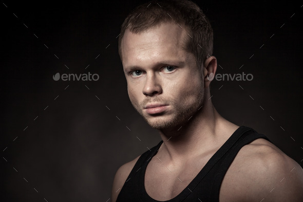 Handsome athlete - Stock Photo - Images