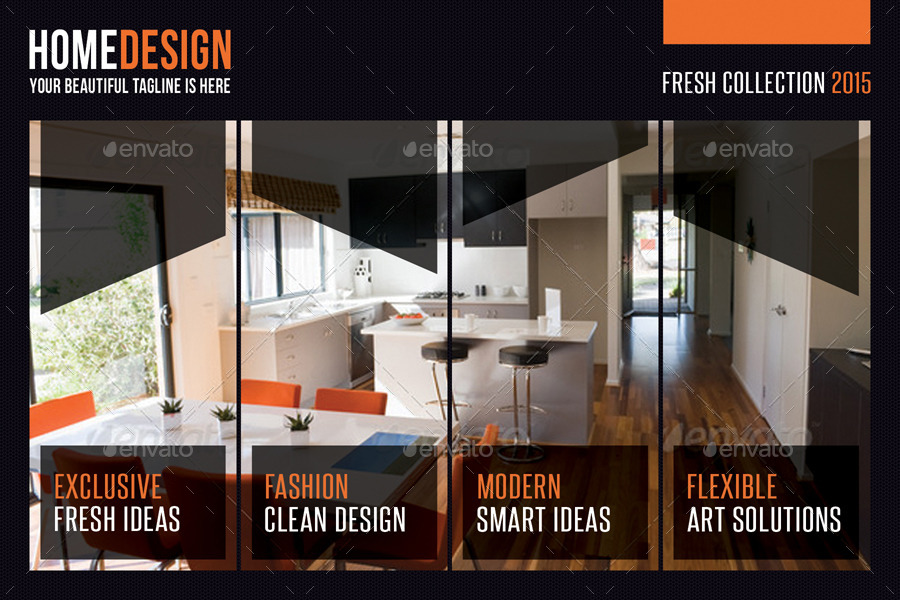 3 In 1 Interior Design Postcard