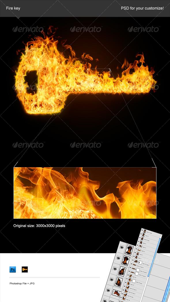 Fire Key - Decorative Symbols Decorative