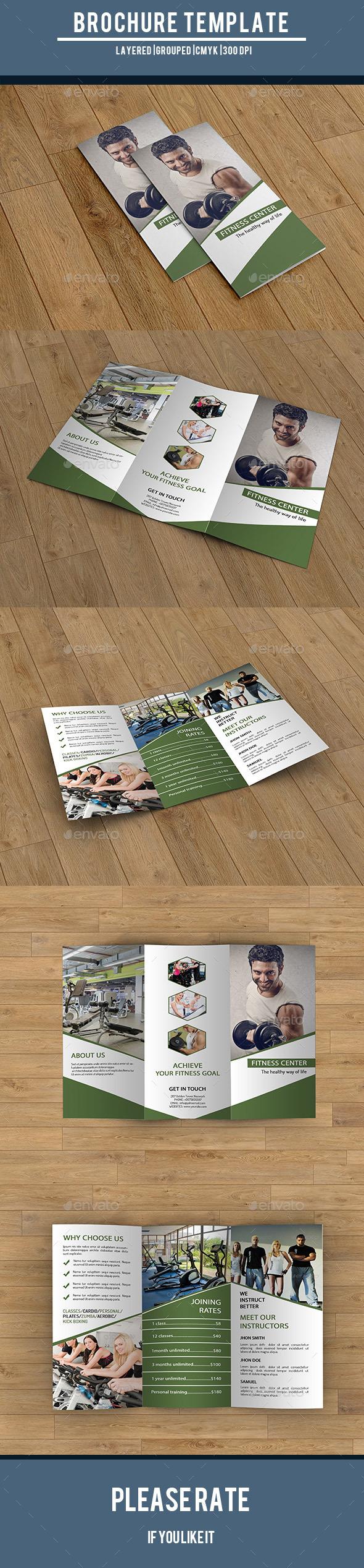 Trifold Brochure for Gym Center-V220 - Corporate Brochures