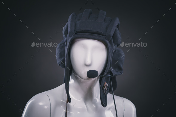 helmet on mannequin - Stock Photo - Images