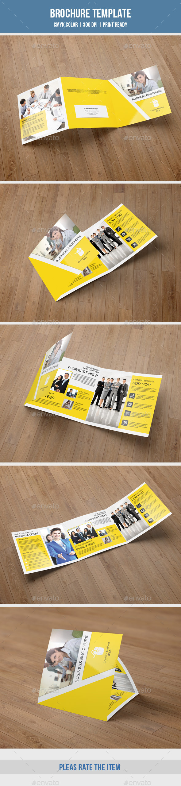 Corporate Square Trifold Brochure-V60 - Corporate Brochures