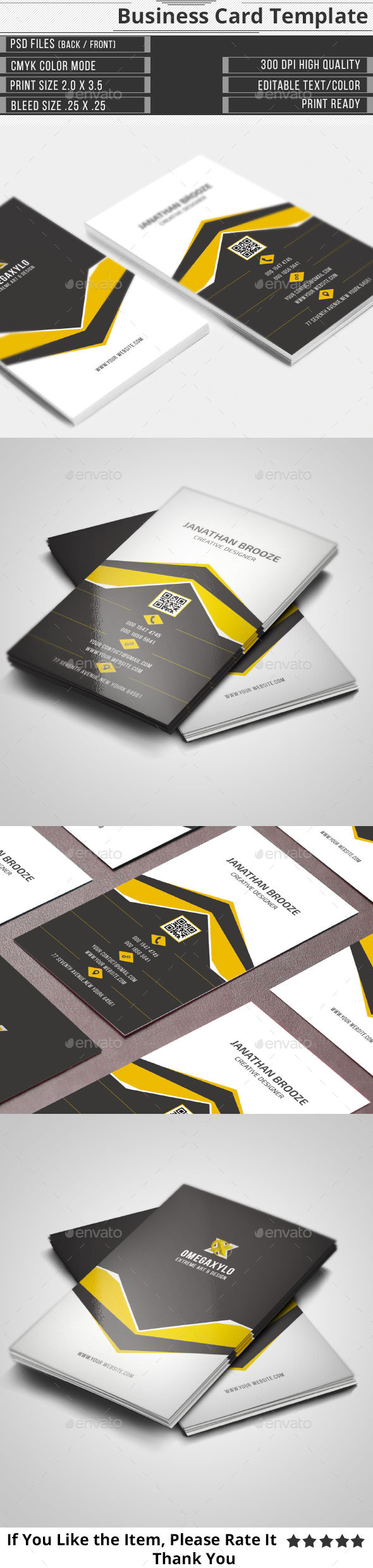 Clean Creative Corporate Business Card - Creative Business Cards