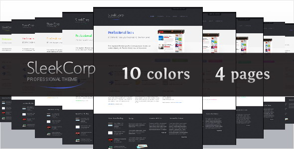 Free Download SleekCorp, professional business theme Nulled Latest Version