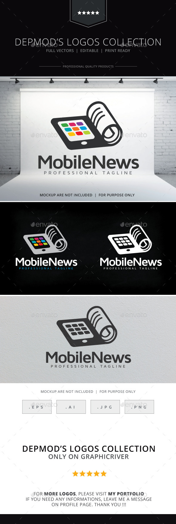 Mobile News Logo - Objects Logo Templates