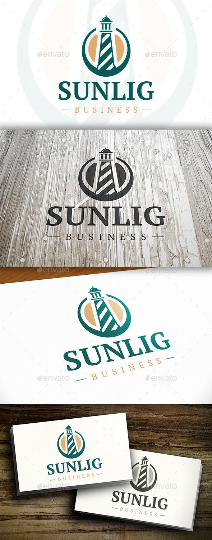 Sun Lighthouse Logo - Buildings Logo Templates