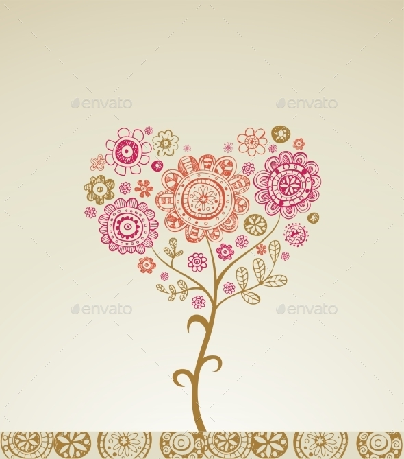 Valentine Greeting Card  - Flowers & Plants Nature