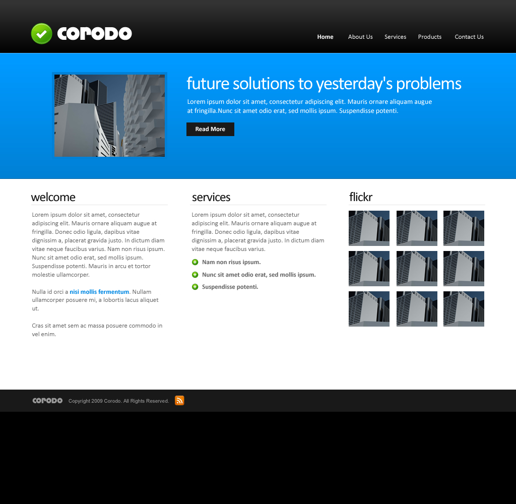 Free Download Corodo PSD Template Nulled Latest Version