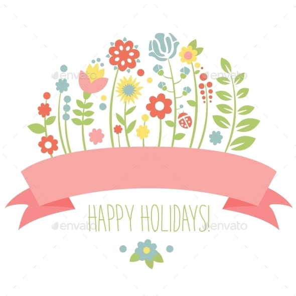 Vintage Floral Background - Flowers & Plants Nature