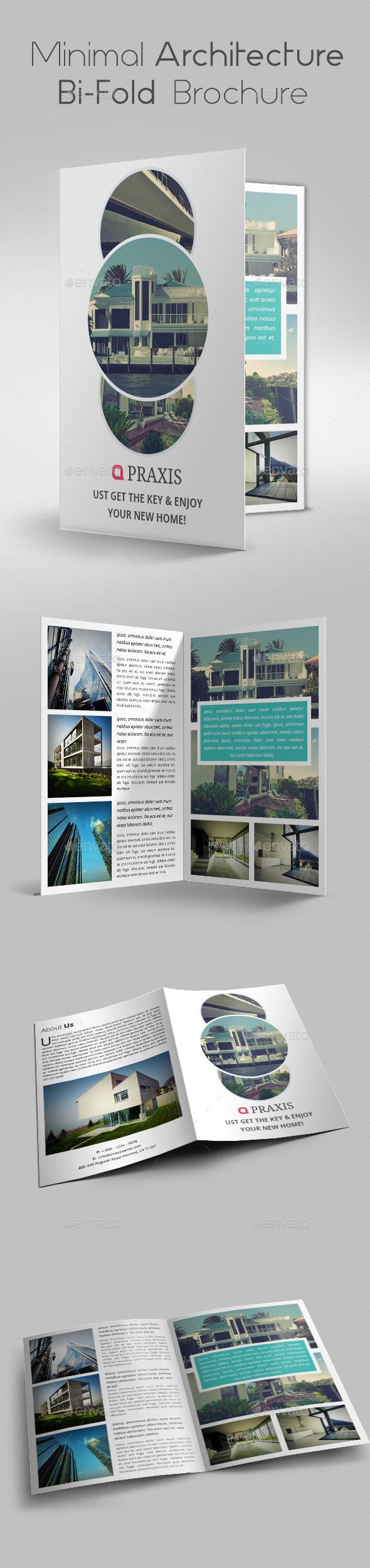 Minimal Architecture Bi-Fold Brochure  - Brochures Print Templates