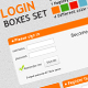 LOGIN BOXES SET - GraphicRiver Item for Sale