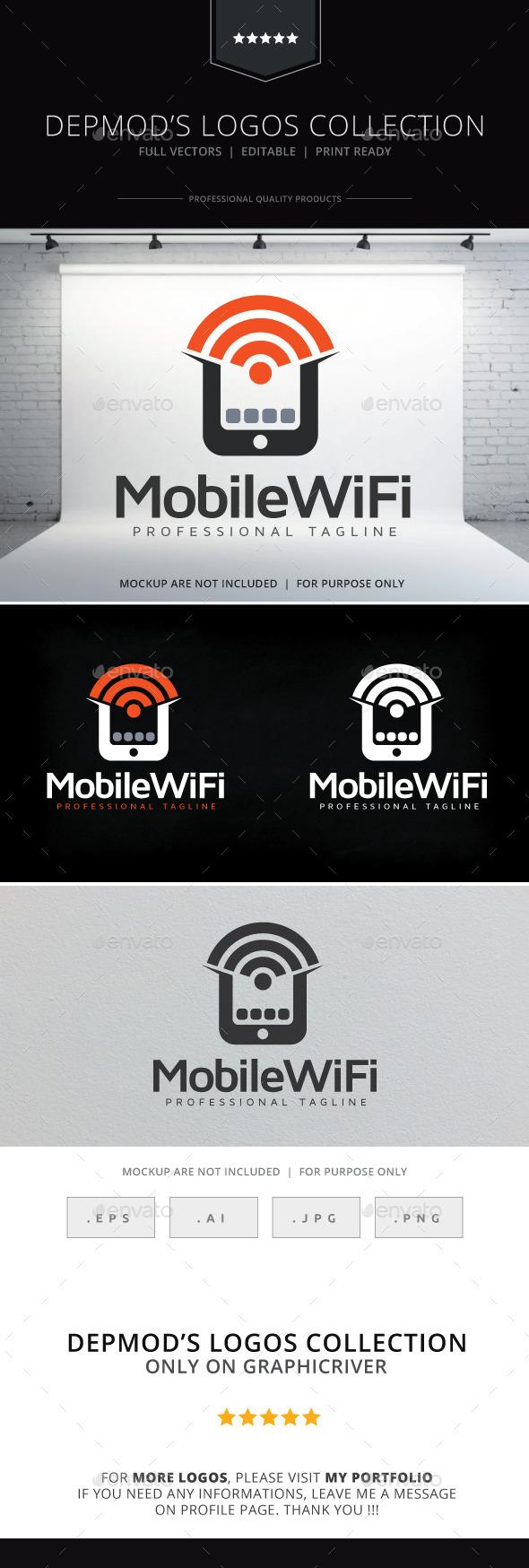 Mobile WiFi Logo - Symbols Logo Templates